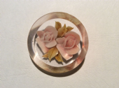 1940's - 1950's  Pink Roses Lucite Roses Brooch